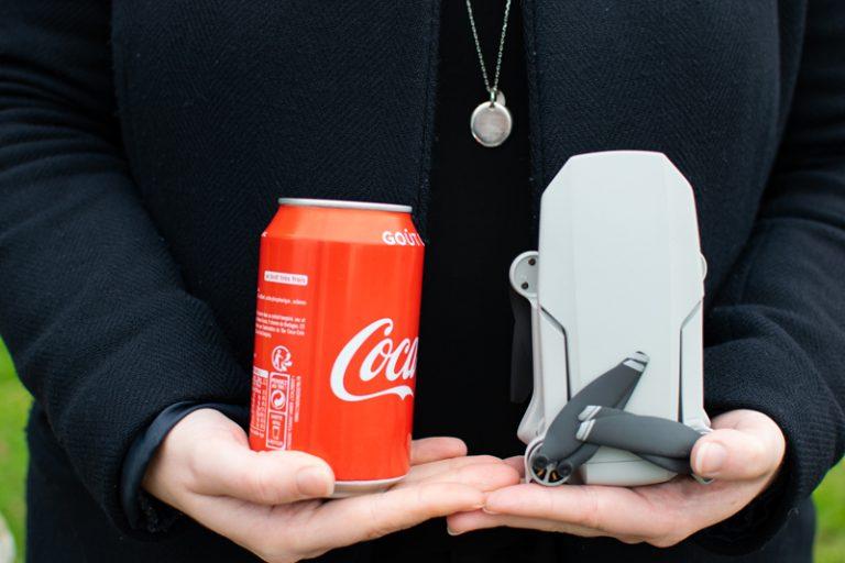comparatif de taille du drone DJI Mavic Mini