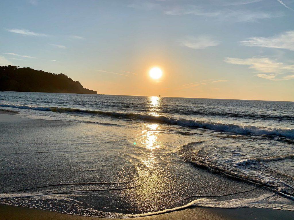 coucher de soleil depuis Baker Beach (San Francisco, USA) horizon penché comment prendre une belle photo