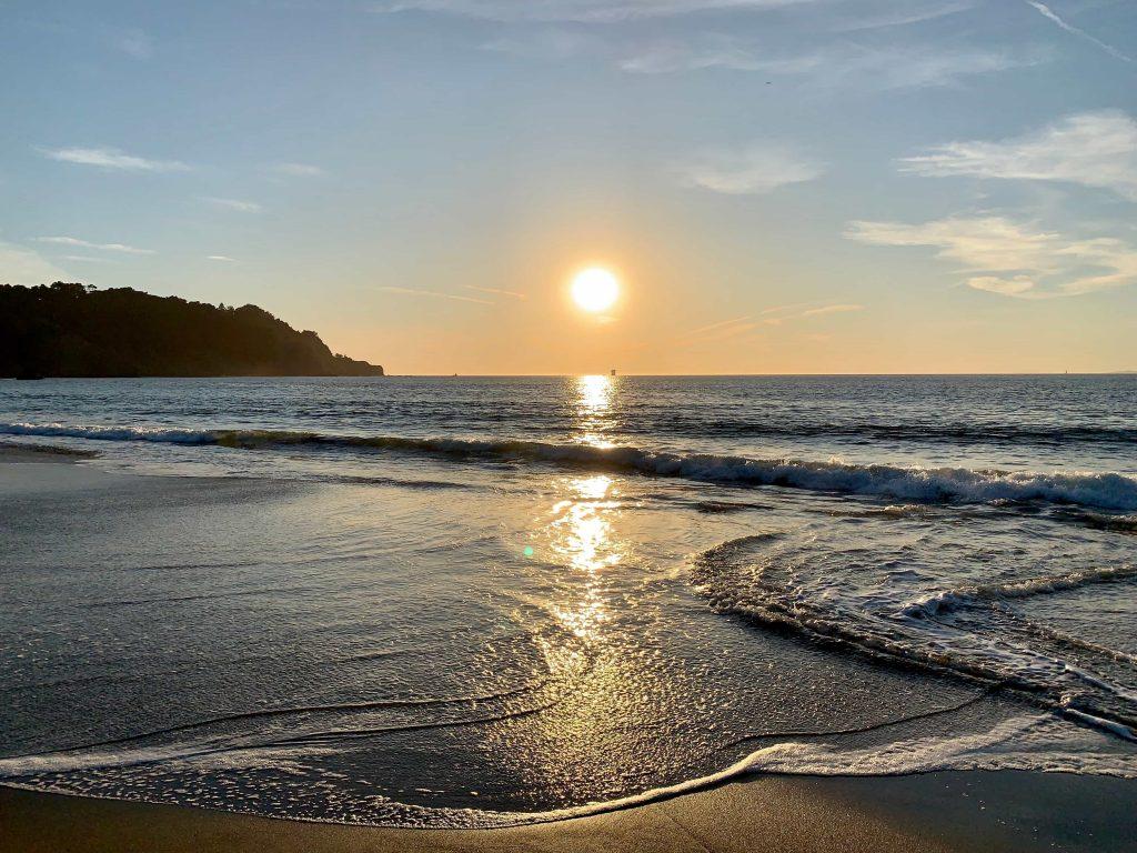 coucher de soleil depuis Baker Beach (San Francisco, USA) horizon droit comment prendre une belle photo