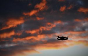 coucher de soleil drone DJI Mavic Air