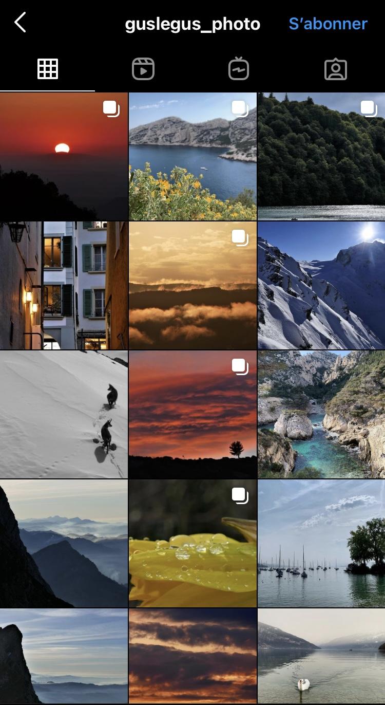 galerie Instagram photos prises avec appareil photo bridge