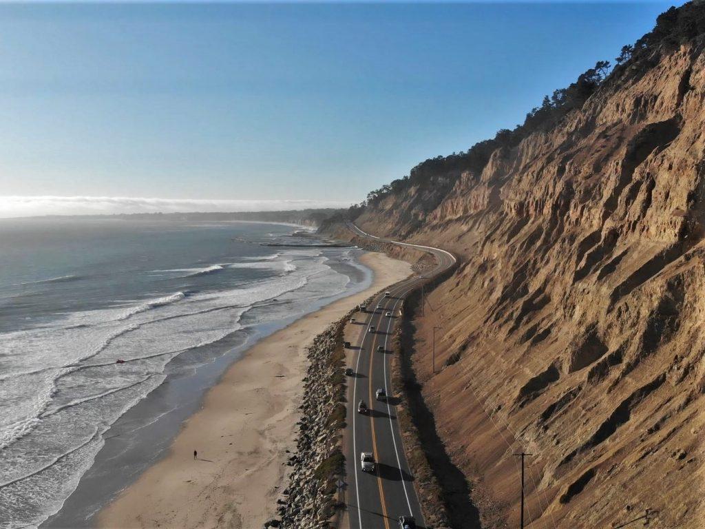 photo drone DJI Mavic Air cote californie highway 1