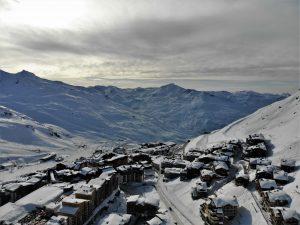 photo de Val Thorens dans les Alpes Françaises prise avec mon drone DJI Mavic Air