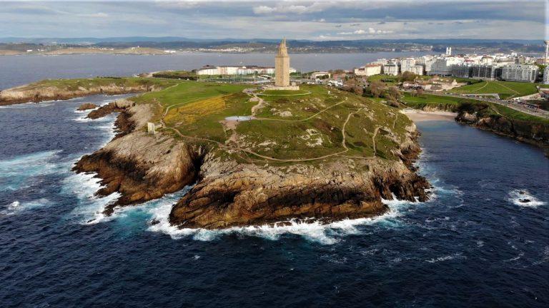 phare de la corogne tour d'hercule pris avec drone DJI Mavic Air